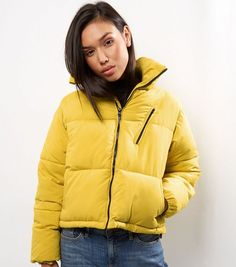 Yellow Puffer Jacket | New Look