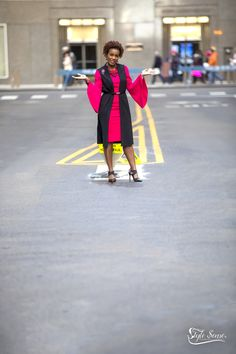 This fuchsia dress reminds me of Hawaiian punch because it looks delicious and stands out in a crowd! I coupled it with a black long vest, belt and mixed pattern pumps, I'm ready to conquer my day. Whatever it may bring! Hawaiian Punch, Fuchsia Dress, Long Vests, Pattern Mixing, Crowd, Bring It On, Belt, Couples