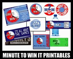 minute to win it party supplies. Love this site! So great for program writing.