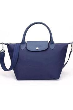 (Medium Size) Paris Lchmp Le Pliage Neo Nylon Tote Sling Handbag (Dark Blue) b658af1f81