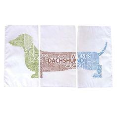 3 Piece Dachshund Dish Towel Set from Joss & Main/ $19.95