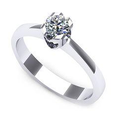 Inel logodna F06ADI * Piatra principala: 1 x diamant, dimensiune: ~3.40mm, greutate: 0.15ct Nonprofit Fundraising, Print Calendar, Diamond Stone, Aur, Wedding Rings, Engagement Rings, Jewelry, Stones, Template