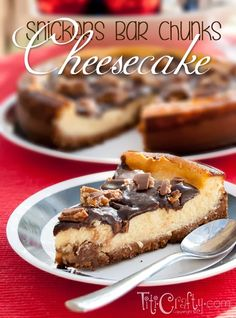 Snickers Bar Chunks Cheesecake by TitiCrafty by Camila