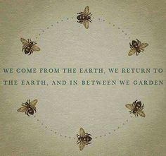We come from the earth, we return to the earth and in between, we garden.