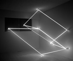 """Trace Heavens,"" series of light installations by James Nizam. Apparently, holes were drilled to manipulate sunlight."