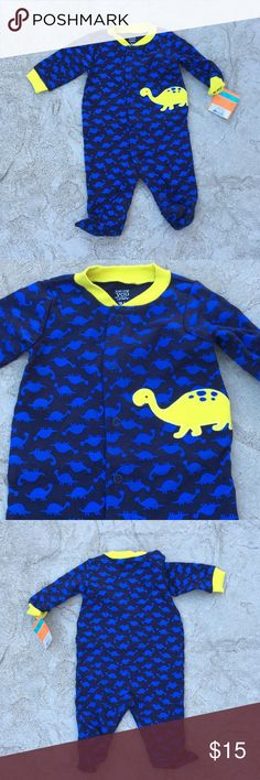 Nwt carters Dinosaur one piece New with tags dinosaur one piece. Size 3 months Carter's One Pieces Footies