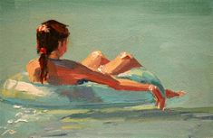 """floating around"" - Original Fine Art for Sale - © carol carmichael"