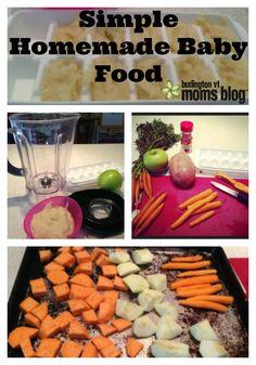 Simple Homemade Baby Food- #DIY #babyfood