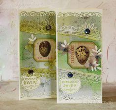 """Stemple """"Smacznego jajka"""" i """"Radosnych Świąt"""" idealnie pasują do dziurkaczy ozdobnych okrągłych o średnicy 5cm."""