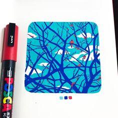No automatic alt text available. Marker Kunst, Posca Marker, Marker Art, Sketchbook Inspiration, Art Sketchbook, Pretty Art, Cute Art, Posca Art, Paint Markers