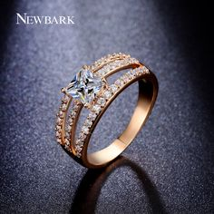 Find More Rings Information about NEWBARK Princess Cut 5mm 0.75 Carat Square…