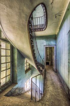 alte treppen geschwungene treppe