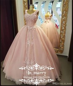Blush Pink Ball Gown Vestidos De 15 Anos 2017 Quinceanera Dresses Vintage Lace 3D-Floral Princess Masquerade 18 Birthday Prom Party Gowns