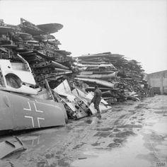 Luftwaffe scrapyard after the war