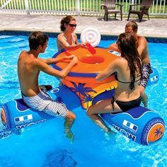 floating table with built in cooler!