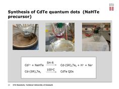 Synthesis of NaHTe precursor and the mechanism for CdTe quantum dots.