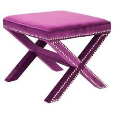 Palmer Ottoman in Plum - how glam!!