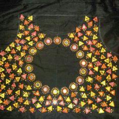 triangle mirror work blouse