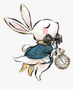 Disney Kunst, Arte Disney, Disney Art, Alice In Wonderland Drawings, Alice In Wonderland Tea Party, White Rabbit Alice In Wonderland, Alice In Wonderland Clipart, Disney Drawings, Cute Drawings