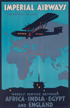 Africa India Egypt & England - Imperial Airways