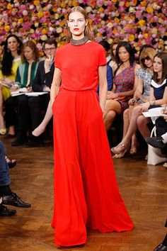 Dior FW 12/13: Red long gown
