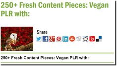 250+ Fresh Content Pieces: Vegan PLR with: