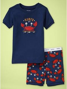 surf crab pjs  Awww!  I need Jerry to be little again for these!
