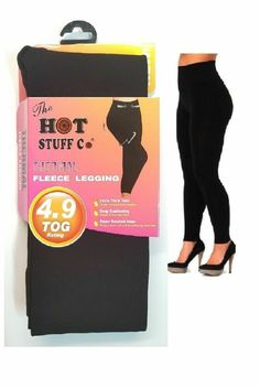 New Ladies Women Black Soft Thick Winter footless tights 4.9 tog legware FOOTLE