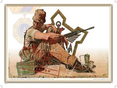 Military Insignia, Military Police, Military Art, Army Drawing, Brothers In Arms, My Land, Troops, Drawings, Middle East