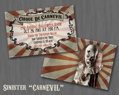 halloween carnevil ideas | wanted to share some of our CarnEvil plans for this year! These are ...
