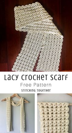 You'l love this elegant shell stitch crochet scarf which is the perfect accessory for an evening out. You'll be surpised at how easy the free pattern is! Crochet Boots Pattern, Sweater Knitting Patterns, Crochet Blanket Patterns, Crochet Stitches, Knit Crochet, Scarf Patterns, Chrochet, Crochet Shawl, Crochet Classes