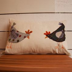 chicken cushion,cushion , pillow, bird, chicken, cushion , wool, tweed cushion, tweed, country, rustic, handmade, applique, vintage