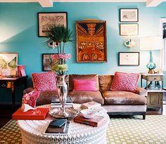 Blue Walls Living Room Living Room Decor, Living Room Photos, Bohemian  Living Rooms,