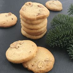 Christmas Snacks, Christmas Baking, Danish Food, Recipes From Heaven, Macaroons, Chocolate Chip Cookies, Nutella, Cookie Recipes, Bakery
