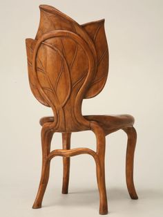 View this item and discover similar for sale at - Unusual Hand-carved Art Nouveau sculptural chair from the Mountain Region of France. It appears to be made from fruitwood but we are not positive. Art Nouveau Bedroom, Art Nouveau Furniture, Bedroom Art, Unique Furniture, Furniture Design, Muebles Art Deco, Castle Rock, Diy Chair, French Art