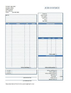 Construction Invoice Template Excel Service Invoice Template  Business Tools  Pinterest