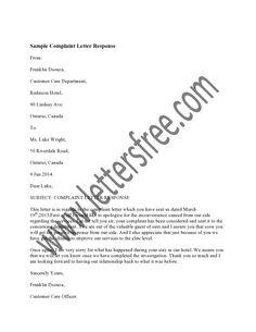 1000 Images About Sample Complaint Letters On Pinterest