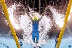 Sarah Sjöström de Suecia, ganadora de los 100m de mariposa.