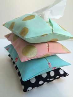 Teach kids to sew with a Tissue Pack Cover. This is part of a series in Teaching Children to Sew. This is a way to teach your child to sew (even if you don't know how.)- The Lost Apron