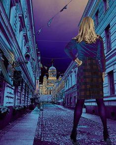 City nights. Digital art, Jarmo Leppinen 2020. Digital Art, Louvre, My Arts, Around The Worlds, Photo And Video, City, Artwork, Instagram, Work Of Art