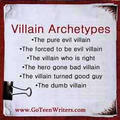Writing Great Villains