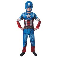 Take the lead of the Avengers gang with this epic Marvel outfit. The Captain America Costume includes a printed jumpsuit and headpiece combo. From our Superhero Costumes range. Marvel Captain America, Costume Captain America, Captain America Helmet, Avengers Cartoon, Avengers Poster, Marvel Avengers Comics, The Avengers, Costumes Avengers, Avengers Outfits