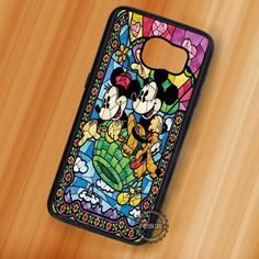Mickey Minnie Stained Glass - Samsung Galaxy S7 S6 S5 Note 7 Cases & Covers