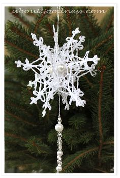DIY Tutorial for Crochet Snowflake Pattern - a bit late but thought you might like this jacquie