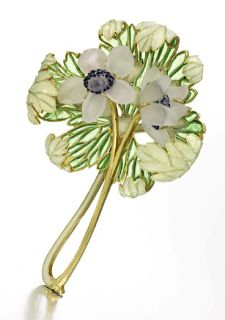 LALIQUE: broche bouquet