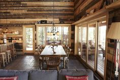 Impressive Timber Lakeside Cabin w/ Fire Pit (10 HQ Pictures) | Top Timber Homes