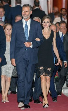 King Felipe of Spain and Queen Letizia of Spain attend the opening of the Royal Theatre new season, the day Queen Letizia is 44 years old on September 15, 2016 in Madrid, Spain.