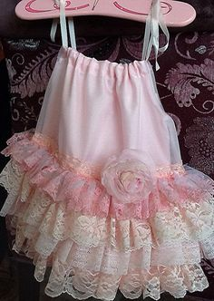 Flower Girl, Summer dress  Pink Peach Vintage Lace  Ruffled Dress  The Isabella  by Rosanna hope for Babybonbons wedding