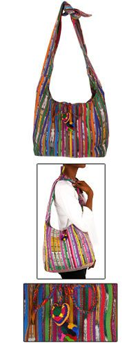 - Guatemalan Recycled Rainbow Bag at The Animal Rescue Site - 30.00 -