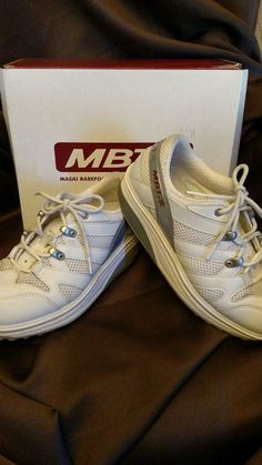 Size 5.5 Women's MBT White Leather Orthodic Toning Walking Athletic Tennis Shoes #MBT #Tennis